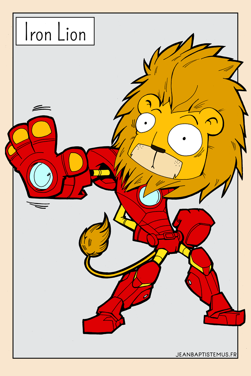 illustration iron lion fan art iron man fanart jb mus