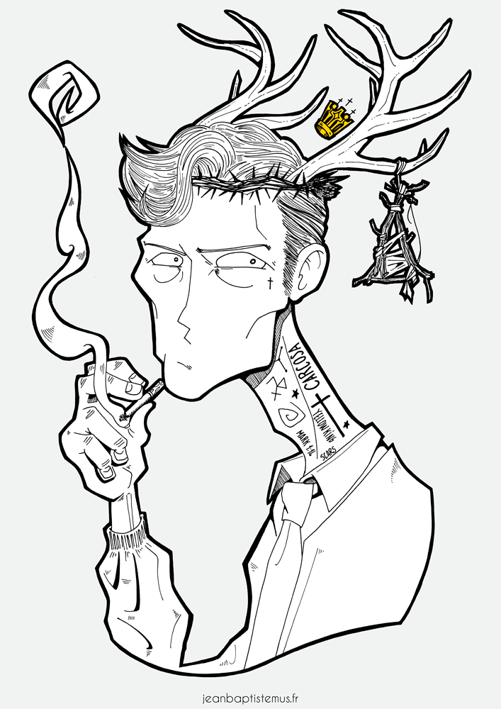 illustration true detective fan art rust cohle jb mus
