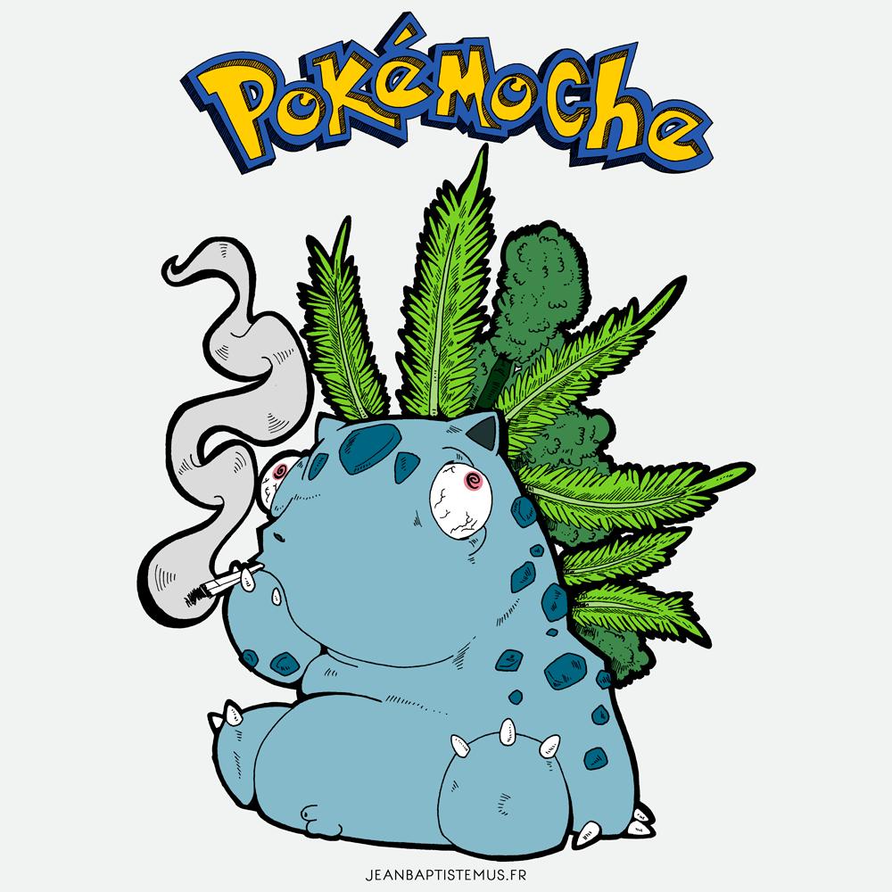 pokemoche pokemon fan art herbizarre jb mus