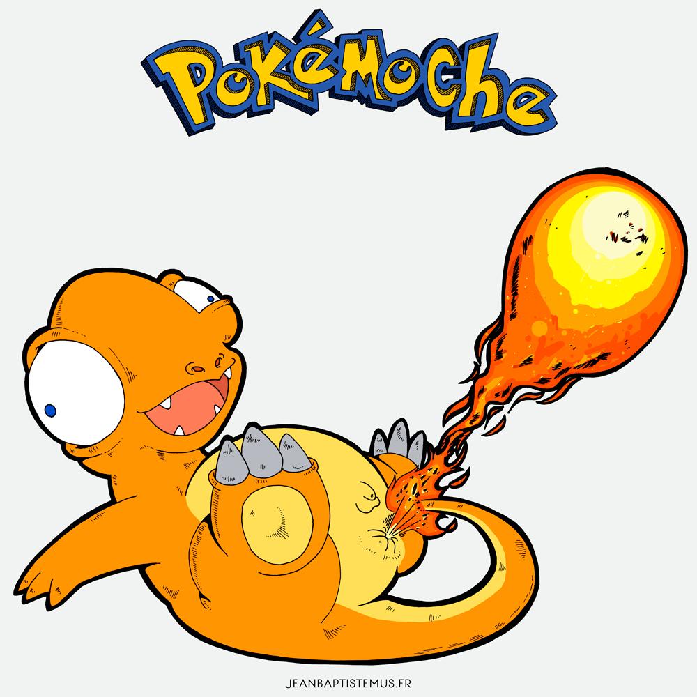 pokemoche pokemon fan art salameche jb mus