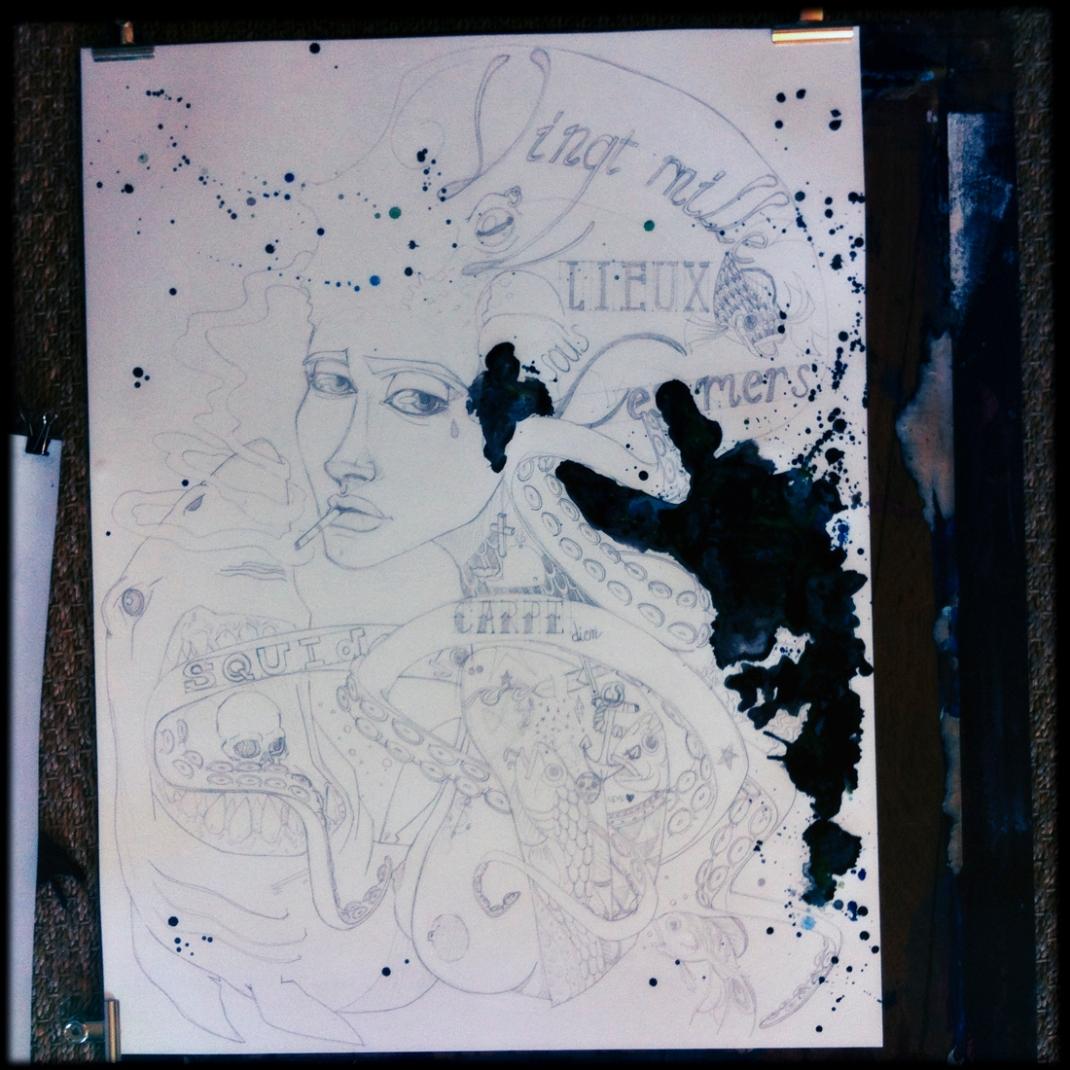 illustration carpe diem sous les mers jb mus processus créatif 1