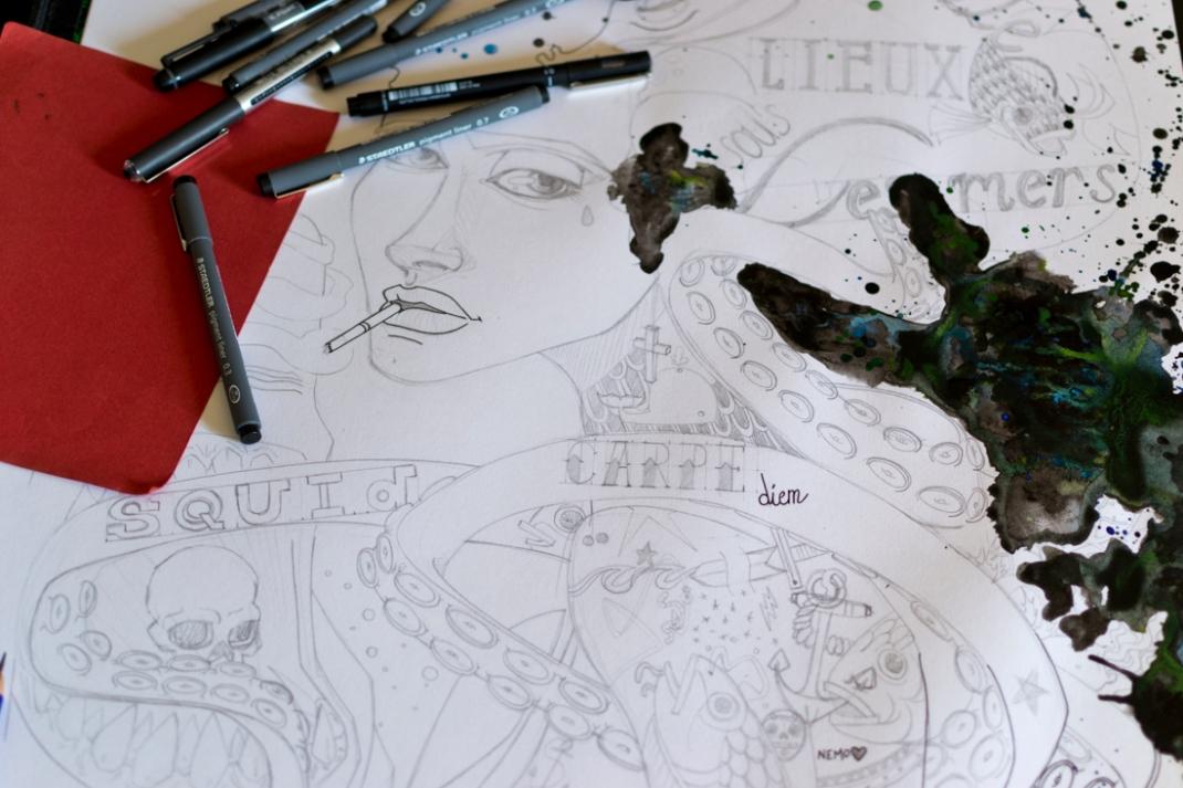 illustration carpe diem sous les mers jb mus processus créatif 2