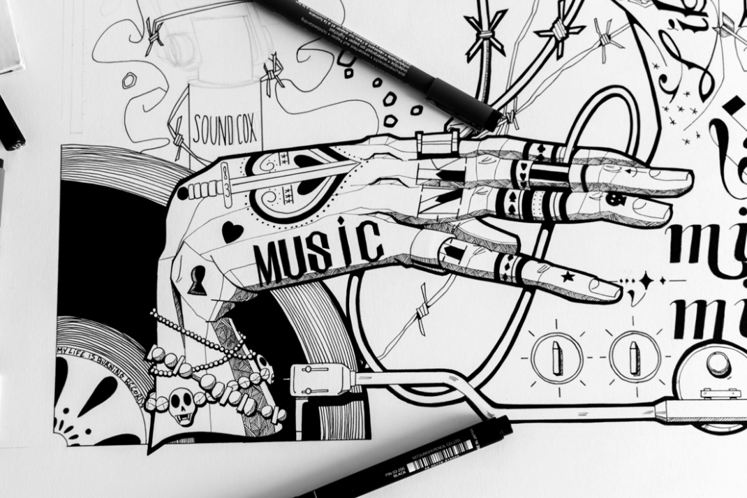 illustration music all you need is sound jb mus processus créatif 4