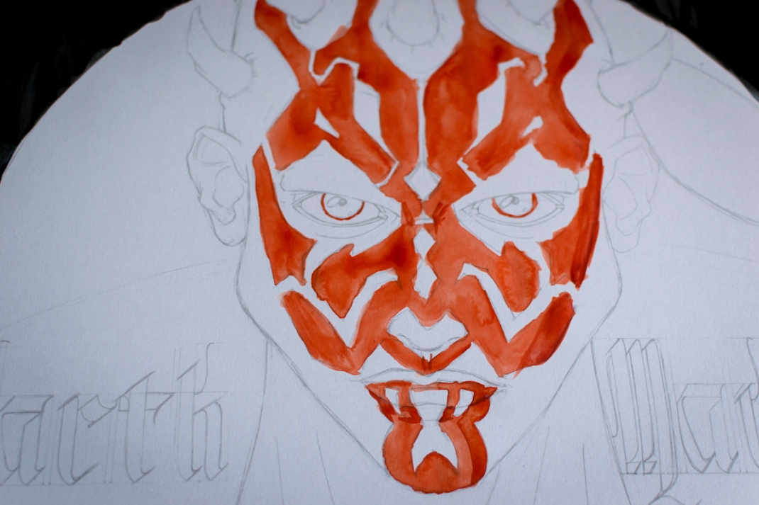 illustration darth maul star wars fan art jb mus processus créatif 04