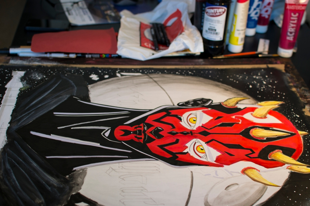 illustration darth maul star wars fan art jb mus processus créatif 06