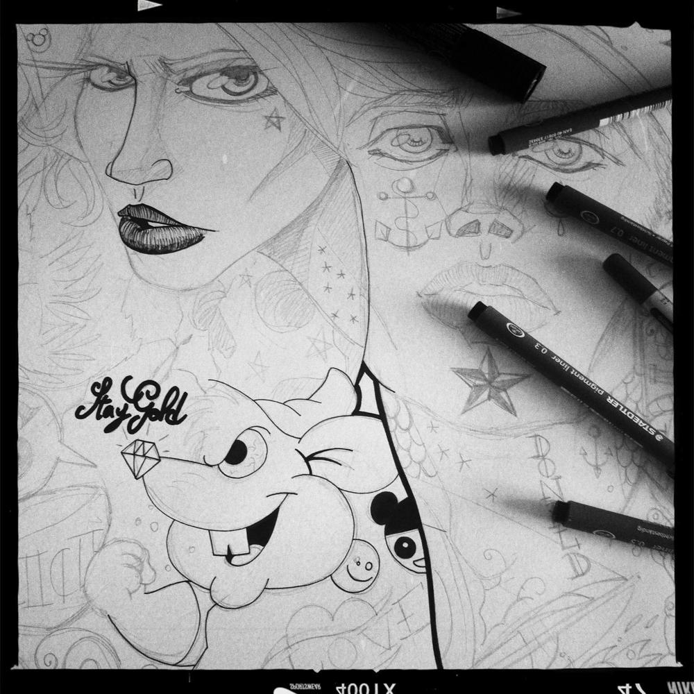 illustration du rirififi chez les loulous walt disney fan art illustrateur jb mus processus créatif 01