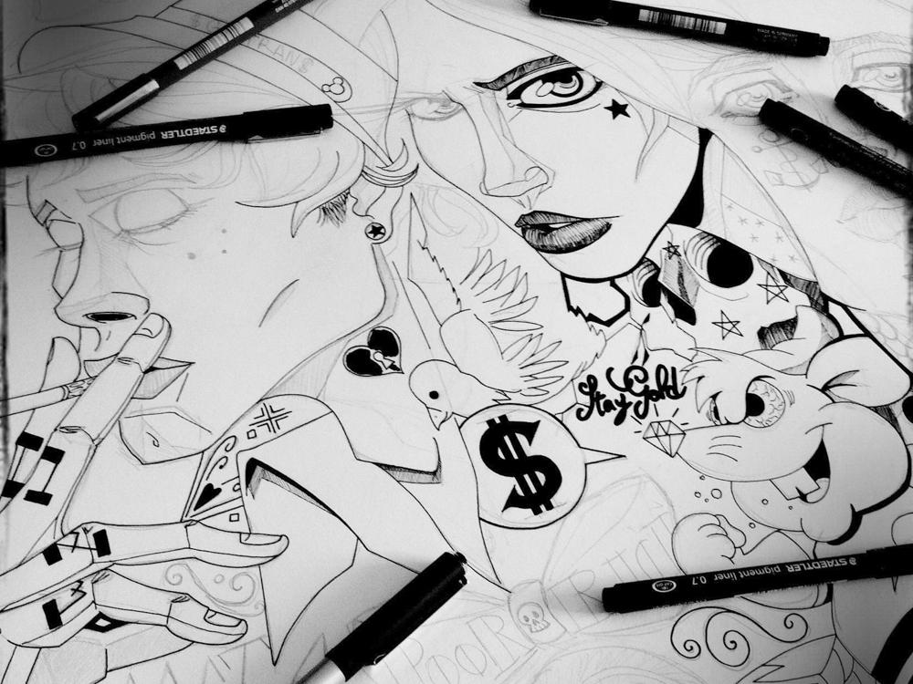 illustration du rirififi chez les loulous walt disney fan art illustrateur jb mus processus créatif 02