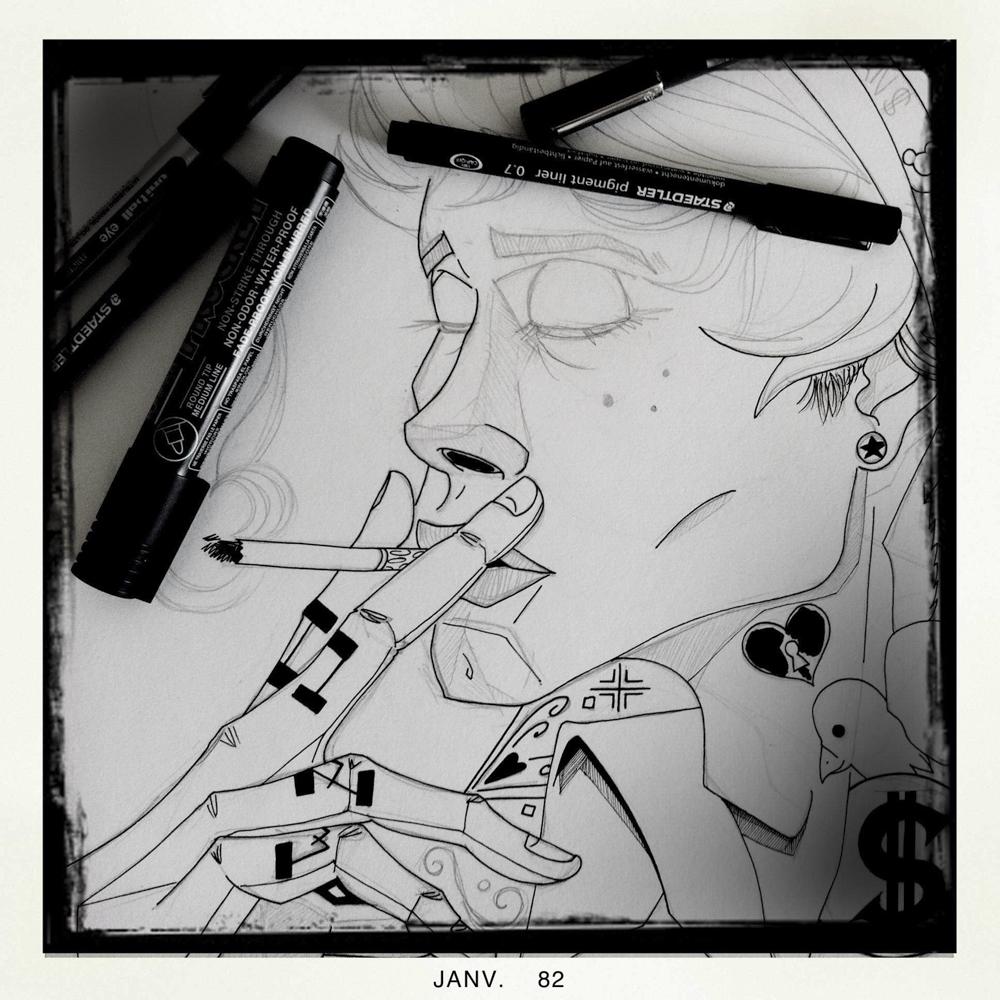 illustration du rirififi chez les loulous walt disney fan art illustrateur jb mus processus créatif 03